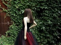 """Suknia wieczorowa """"czarna orchidea"""""""