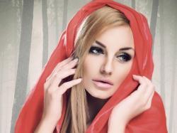 Suknia wieczorowa  czerwono - czarna