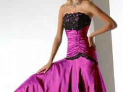 Suknia wieczorowa kolor AMARANT roz 40 tafta