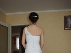 Suknia własnego projektu rozm. 36 + tren, szal i buty