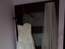 Suknia z jedwabiu, rozm. 36