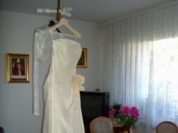 Suknia z kolekcji Pronovias model NEPTUNO, prześliczna, dziewczęca, lekka