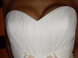 suknia z muślinu