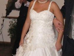 Suknia z oryginalną angielską koronką