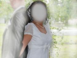 suknia z rękawkiem