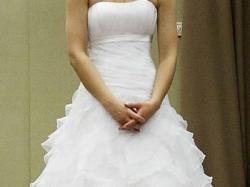 suknia z salonu Loretta,biała Księżniczka w literę A, subtelna z klasą!