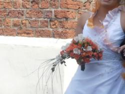 Suknie Ślubna 2012 z pomarańczowym Gorset do regulacji