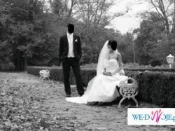 suknię ślubną z oryginalnym welonem w stylu hiszpańskim
