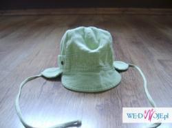 Super czapeczka na wiosnę dla chłopca, sztruksowa