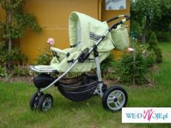 Super wózek Mikado Oxford+fotelik samochodowy+ dodatki