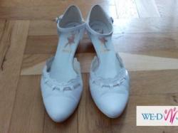 Super wygodne, białe buty ślubne 39
