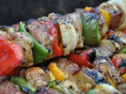 Szaszłyki z grillowanym bakłażanem