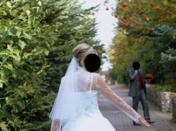 Szykowna, elegancka  suknia ślubna