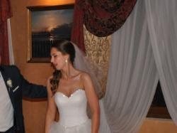 Szykowna suknia ślubna + bolerko