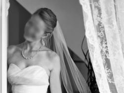 Tanio DŁUGA suknia slubna GALA ZAIDA 38 DŁUGI TREN 181cm