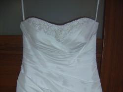 Tanio!!!Skromna ale urocza suknia śluna - naprawdę warto!!!