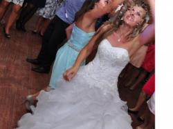 Tanio! Śliczna Suknia Ślubna + welon oraz poduszka do obrączek GRATIS!