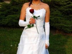 Tanio sprzedam suknię ślubną + dodatki