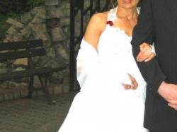 Tanio sprzedam suknię ślubną firmy AGNES w rozm.36/38 na 162 cm