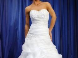 Tanio!! Suknia ślubna model Hanna roz. 36/38 wiązana + welon i bolerko 3/4