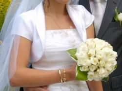 Tiulowa suknia ślubna 34/36 plus welon, bolerko