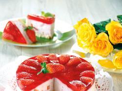 Torcik jogurtowy z truskawkami