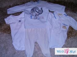 ubranka dla chłopca 0-3 miesiące 34szt zestaw 3
