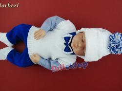 Ubranko z tkaniny bawełnianej dla chłopca na chrzest