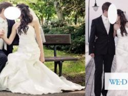Unikatowa i urocza suknia ślubna, jedyna taka, kształt syrenka rybka
