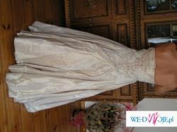 Unikatowa suknia ślubna- nie do opisania!cudowny wzór!