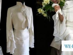 Unikatowa suknia ślubna z najszlachetniejsze jedwabiu VALENTINO!