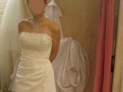 urocza, firmowa suknia ślubna roz. 38, ecru/perła