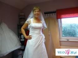 Urocza suknia ślubna rozm. 38/40 Gliwice/Pilchowice
