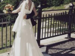 Urocza zwiewna suknia slubna