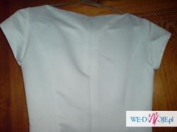 Używana klasyczna suknia ślubna.