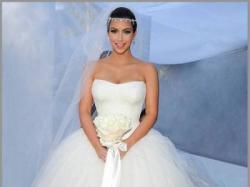 Vera Wang Suknia ślubna Kim Kardashian rozm. 36 tren