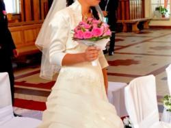 wdziędzna suknia ślubna 38.  jak nowa !