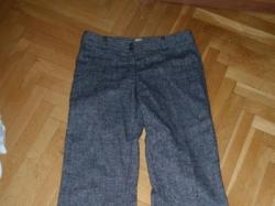 Wełniane spodnie melanż r 38 40