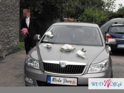 Weselna dekoracja na samochod