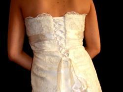 White One228  krotka suknia slubna