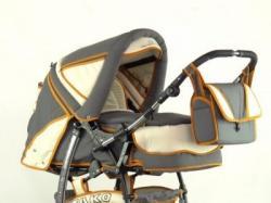 Wózek dziecięcy TAKO Easy Rider Classic w kolorze żółto-grafitowym, używany