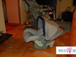 Wózek dzieciecy wilofunkcyjny- z nosidełkiem i podstawą do montażu w samoch.