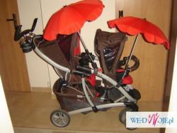 Wózek podwójny GRACO QUATTRO TOUR DUO - WSZYSTKIE DODATKI