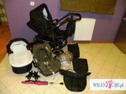 Wózek TAKO JUMPER X 3w1 wraz z fotelikiem samochodowym Maxi-Cisi Cabrio Fix.