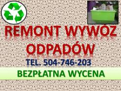 Wyburzenie ścianki, cennik, tel. 504-46-203.Rozbiórka i zburzenie ścianki. Usługi remontowe. Wrocław,