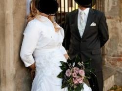Wygodna, delikatna suknia ślubna