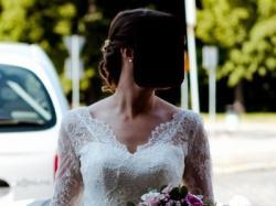 Wygodna i piękna suknia ślubna w kolorze śmietankowym