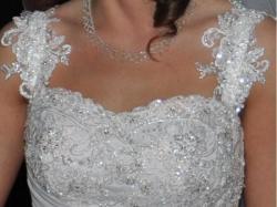 wyjątkowa biała muślinowa suknia z halką i gratisy OKAZJA