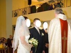 Wyjątkowa i tania suknia rozm.40-42 (kamizelka męska gratis)