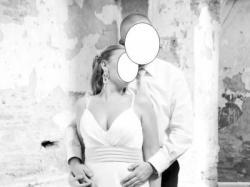 Wyjątkowa orginalna muślinowa suknię ślubną rozm 40/42 z szarfą / kokardą